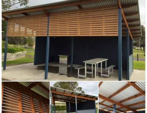 Composite Timber Screening and Treated Pine BBQ Shelter